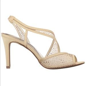 Happily Ever After Asymmetrical Mesh Heel Sandal